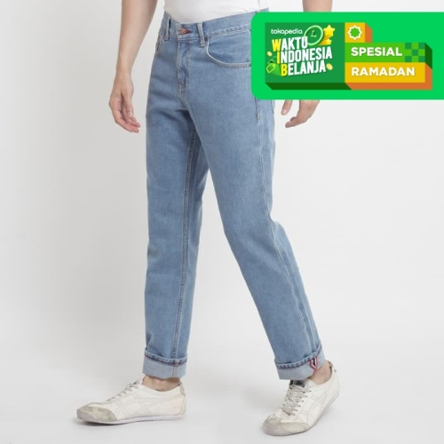 Foto Produk PAPPERDINE JEANS 311 Light Blue 14 OZ Selvedge Accent Non Stretch - 33 dari Papperdine Jeans