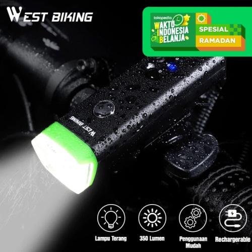 Foto Produk Lampu Depan Sepeda LED USB Rechargeble West Biking HJ047 Sensor Lamp - Hijau dari West Biking Indonesia