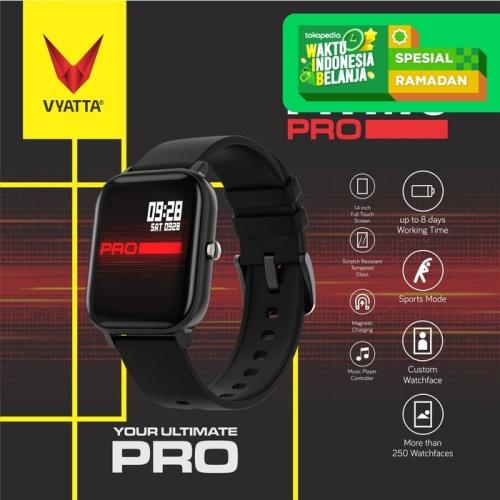 Foto Produk VYATTA Fitme Pro Smartwatch - Custom Watch Face, Full Touch, Metal - Hitam dari VYATTA INDONESIA