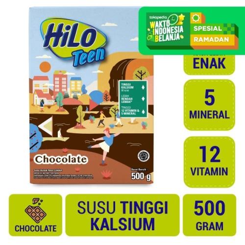 Foto Produk HiLo Teen Chocolate 500gr - Susu Tinggi Kalsium dari NutriMart