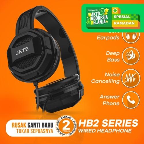 Foto Produk Headset | Handsfree | Headphone JETE HB2 - Hitam dari JETE Official Surabaya