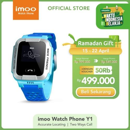 Foto Produk imoo Y1 Watch Phone Biru-Jam Anak Pintar / Waterproof / Garansi Resmi dari imoo Official Store