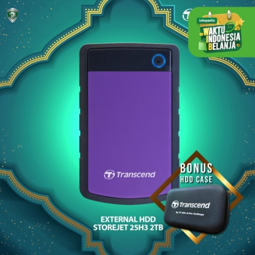 Foto Produk Transcend External HDD StoreJet 25H3 [2TB] - Ungu dari Transcend Indonesia