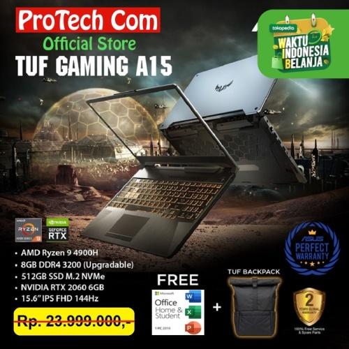 Foto Produk ASUS TUF GAMING A15 FX506IV RYZEN 9 4900H 8GB 512GB RTX2060 6GB 144HZ dari Protech Computer