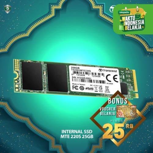 Foto Produk Transcend SSD M.2 PCIe MTE220S NVME - 256GB dari Transcend Indonesia