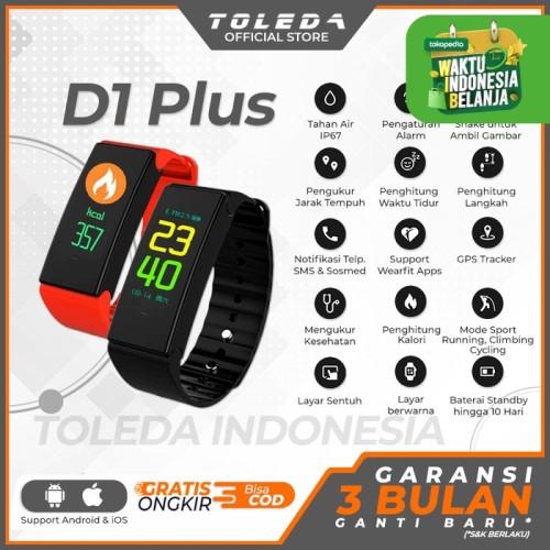 Foto Produk TOLEDA SmartBand TLW D1Plus Original 100% SmartWatch - Merah dari Toleda Indonesia