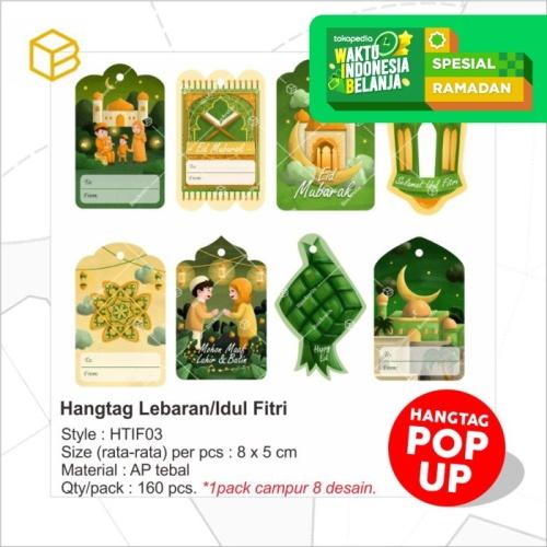 Foto Produk Hangtag Lebaran Hang Tag Idul Fitri Label Kartu Ucapan Box | HTIF dari Box Are Us