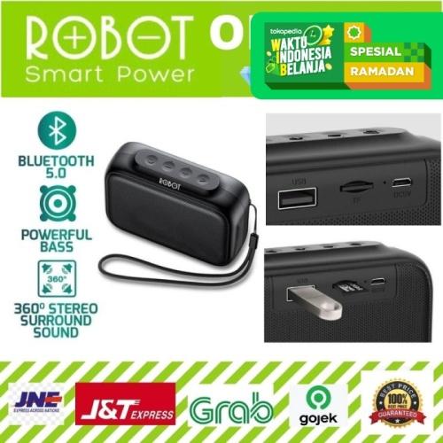 Foto Produk ROBOT RB100 Speaker Bluetooth 5.0 Mini Portable Support Micro SD dari serunicomp