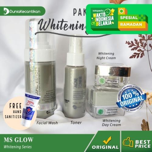 Foto Produk Ms Glow Paket Whitening Series Free Pouch - Cream Pemutih Wajah - Paket Whitening dari DuniaKecantikan