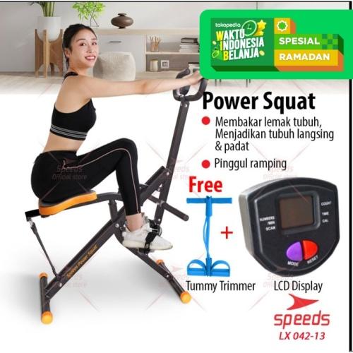 Foto Produk Power Squat Alat Fitness Sepeda Fitness Power Rider SPEEDS 042-13 - Hitam dari Speeds Official Store