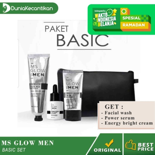 Foto Produk Paket MS Glow Men Basic Ms Glow For Men Original BPOM Free Pouch - Men Basic dari DuniaKecantikan