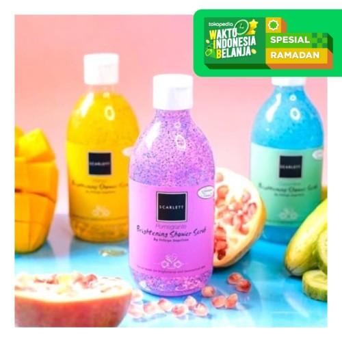 Foto Produk Brightening Shower Scrub Pomegrante Scarlett - Mango dari JC Beauty