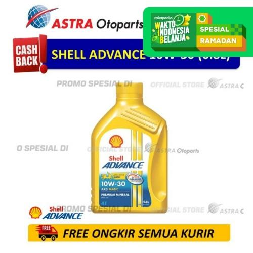 Foto Produk Shell Advance AX5SC 10W30 0.8 L untuk Motor Matic dari Astra Otoparts
