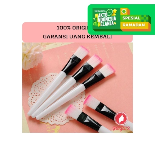 Foto Produk Set KUAS MASKER | SPATULA MASKER Putih Pink Fanta Brush Pastel - SPATULA dari Jaya's