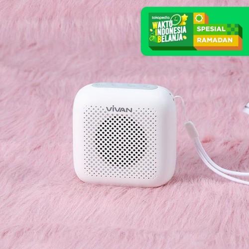 Foto Produk Speaker Bluetooth 5.0 VIVAN VS1 Outdoor Waterproof Support SD Card - Putih dari serunicomp