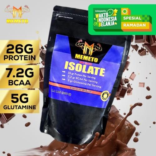 Foto Produk Memeto Nutrition | Suplemen Fitnes | Susu Whey Protein Isolate | 500g dari Prometheus Shop