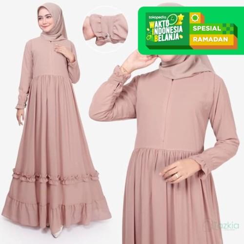 Foto Produk Tazkia Hijab Store | Dress Muslim Wanita | Afia Dress | Gamis Busui - Kuning, M dari Tazkia Hijab Store