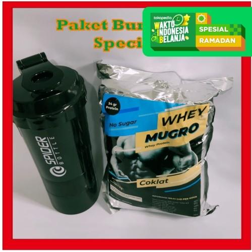 Foto Produk Paket Bundling Promo | Whey Mugro & Spider Shaker | Whey Protein dari Prometheus Shop