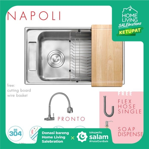 Foto Produk Paket Promo: CGS Napoli Kitchen Sink + Kran Air CGS Pronto dari CGS Indonesia