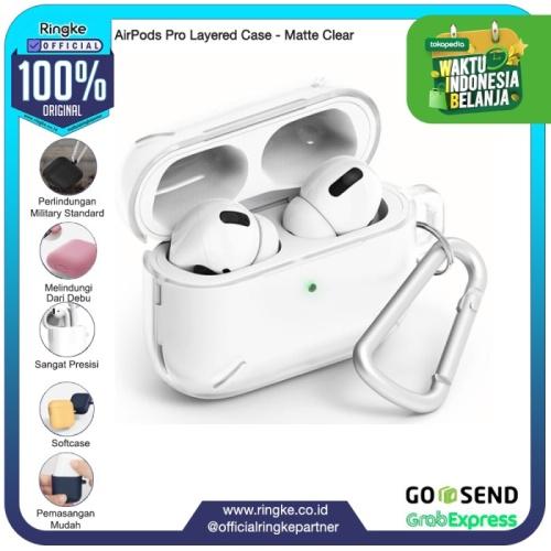 Foto Produk Rearth Ringke Casing AirPods Pro Case Layerd AntiCrack Anti Slip - Matte Clear dari Official Ringke Partner