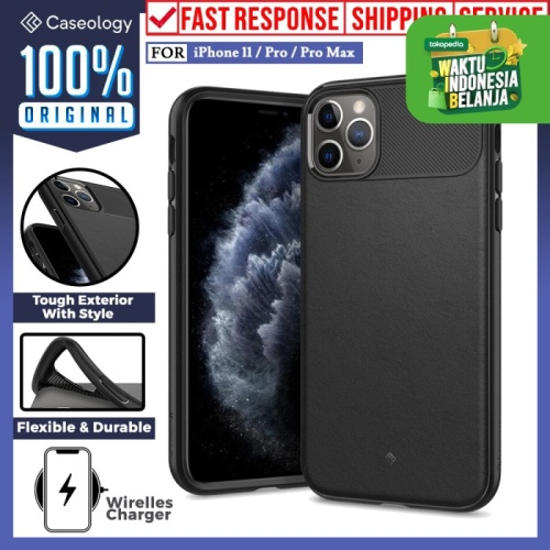 Foto Produk Case iPhone 11 Pro Max 11 Pro 11 Caseology Vault Silicone Soft Casing - iPhone 11 Pro, Black dari Caseology Official Shop
