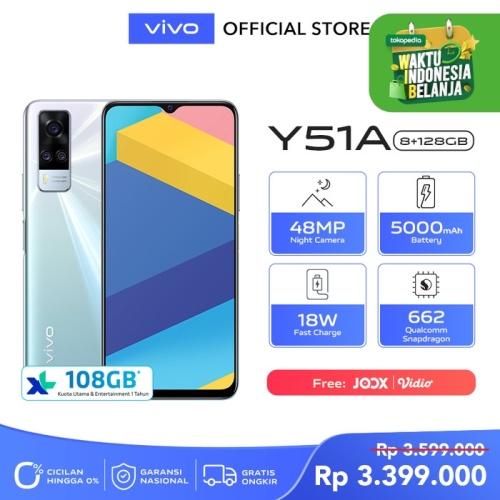 Foto Produk vivo Y51A [8/128] RAM 8GB ROM 128GB Crystal Symphony dari vivo Indonesia