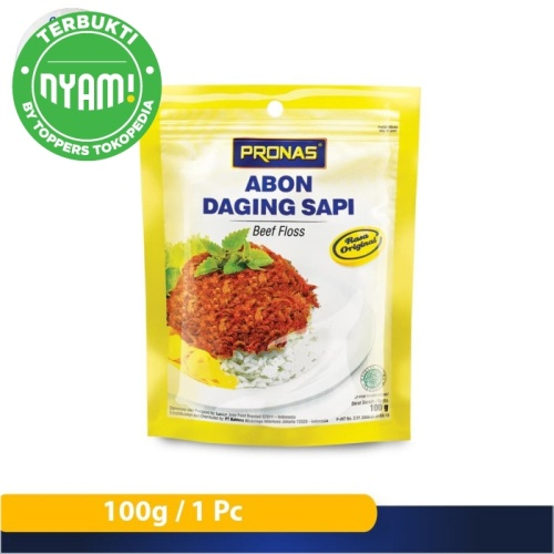Foto Produk Pronas Abon Sapi Original (kemasan ziplock) 100 g dari Pronas Official Store
