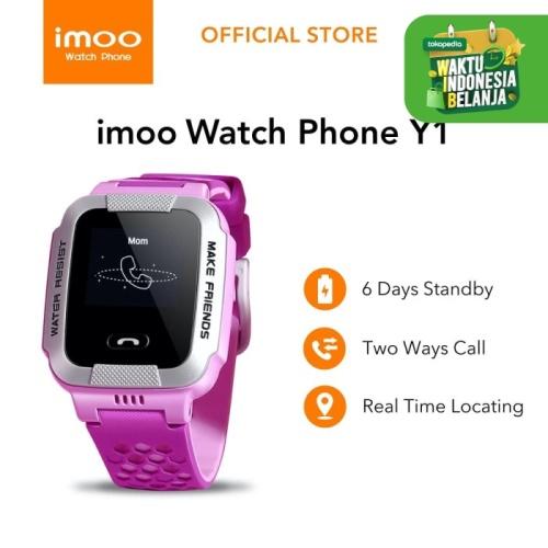 Foto Produk imoo Y1 Watch Phone Ungu-Jam Anak Pintar / Waterproof / Garansi Resmi dari imoo Official Store