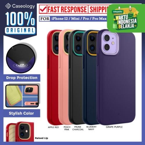 Foto Produk Case iPhone 12 Pro Max 12 Mini Caseology Nano Pop Softcase Casing - iPhone 12 Mini, Prune Charcoal dari Caseology Official Shop