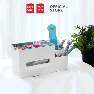 Foto Produk MINISO Kotak Tisu Serbaguna Multifungsi Multifunctional Tissue Box Rak - type 1 dari Miniso Indonesia