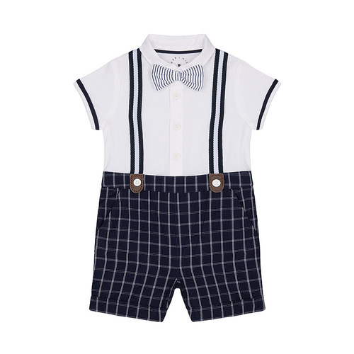 Foto Produk heritage mock shorts and shirt romper - Up to 1 mnth dari Mothercare Official Shop
