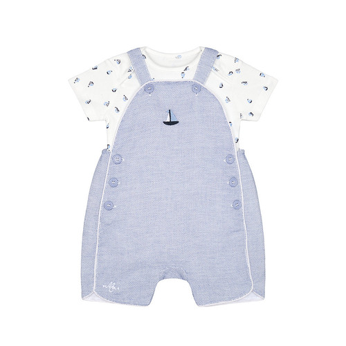 Foto Produk heritage sail boat bibshorts and bodysuit set - Up to 1 mnth dari Mothercare ELC Official