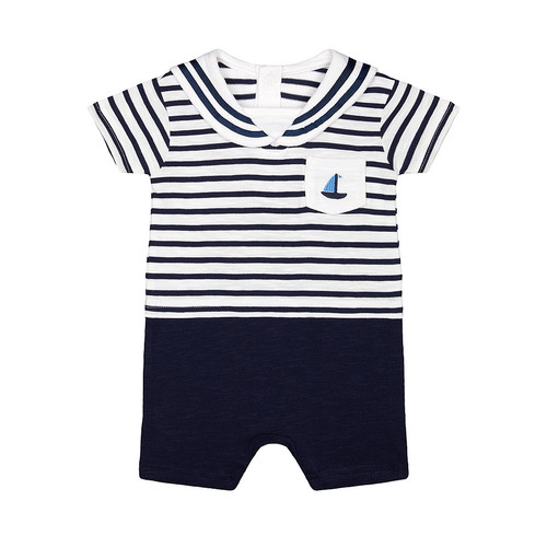Foto Produk heritage navy striped mock sailor romper - Up to 1 mnth dari Mothercare Official Shop