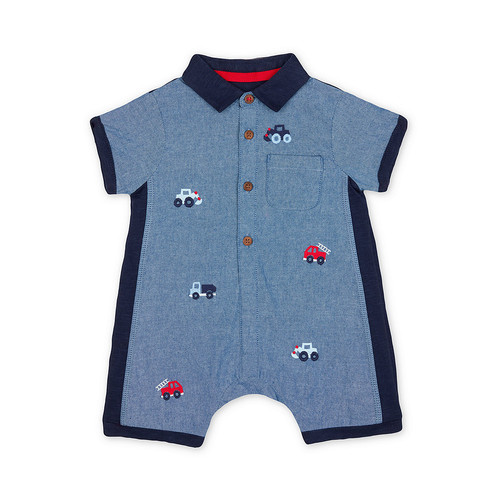 Foto Produk embroidered chambray romper - Up to 1 mnth dari Mothercare Official Shop