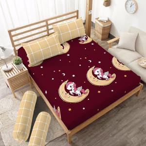 Foto Produk Sprei Unicorn Kintakun D'luxe Microfiber Merah (5in1) 20 cm - 160 x 200 dari Kintakun Sprei Bedcover