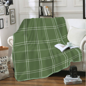 Foto Produk Selimut Flannel 160 x 200 Braxley Kintakun Polyester Hijau Anti Alergi dari Kintakun Sprei Bedcover