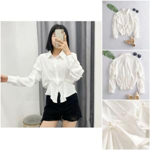 Foto Produk EGHHA White Irregular Blouse / Blouse Putih Polos dari XineShop