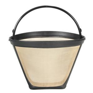 Foto Produk Permanent Reusable #4 Cone Shape Coffee Filter Mesh Basket Gold Tone dari Interest Shop