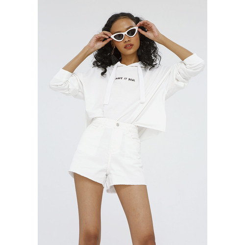Foto Produk Colorbox Embroidery Hoodie I:Stkkey120F007 Off White - Off White, S dari Colorbox Indonesia
