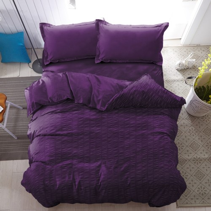 Foto Produk Bed Cover Only Purple Pennant Kintakun Luxury Microfiber 230 x 217 cm dari Kintakun Sprei Bedcover