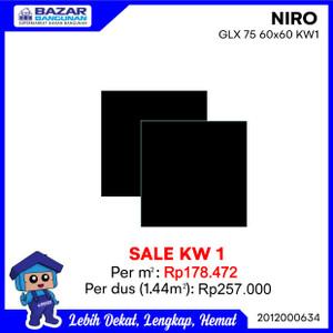Foto Produk GRANITE GRANIT TILE LANTAI DINDING NIRO GLX 75 GLX75 60X60 1.44 M KW1 dari Bazar Bangunan