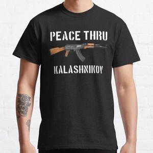 Foto Produk Kaos Peace Thru Kalashnikov T-shirt 371027 dari BOMBASTEES