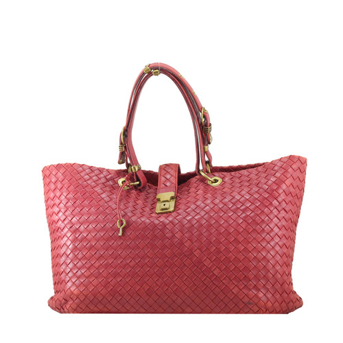 Foto Produk Bottega Veneta Intrecciato Large Capri in Red I10362C dari SECOND CHANCE