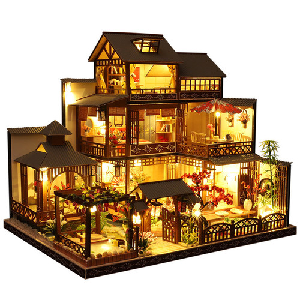 Foto Produk Garansi. Wooden DIY Japanese Villa Doll House Miniature Kits Handma dari Rumah Cantik Hilwa