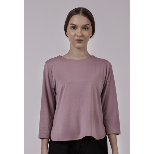 Foto Produk The Executive Blouse 3/4 Sleeves 5-BLKKEY120C145 Dusty Pink - Dusty Pink, XL dari The Executive Indonesia