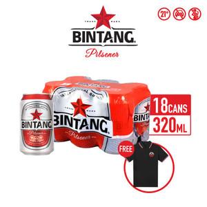 Foto Produk Bir Bintang Pilsener 320ml Can 18 Pcs + FREE Polo Bintang dari Drink Corner Bekasi