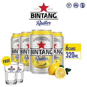 Foto Produk Bir Bintang Radler Lemon 320ml Can Multipack 6 + FREE Gelas Radler dari Drink Corner Bekasi