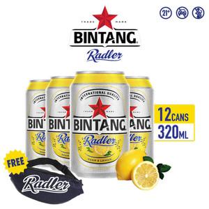 Foto Produk Bir Bintang Radler Lemon 320ml Can Multipack 12 + FREE Tas Pinggang dari Drink Corner Bekasi