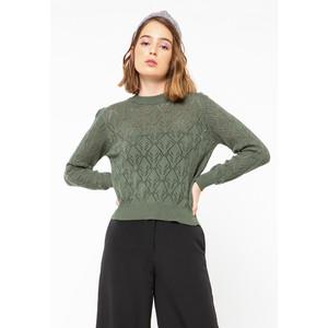 Foto Produk Colorbox Acrylic Basic Sweater I:Swgkey120F024 Olive - OLIVE, M dari Colorbox Indonesia