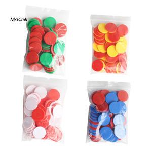 Foto Produk MAC_50Pcs Dual Color Round ips Counting Numbers Math Game Counters dari yayangstore9